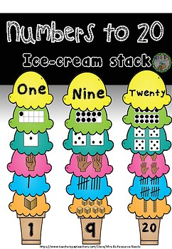 Numbers to 20 ice-cream stack