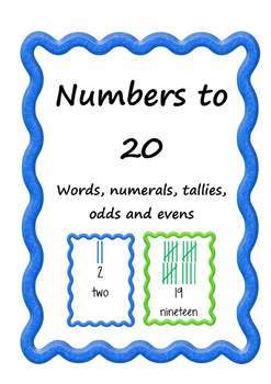 Numbers to 20 odd and even
