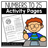 Numbers to 25 Activity Pages