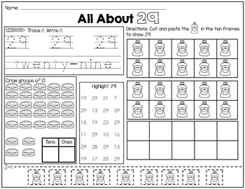 Numbers to 30 Printables