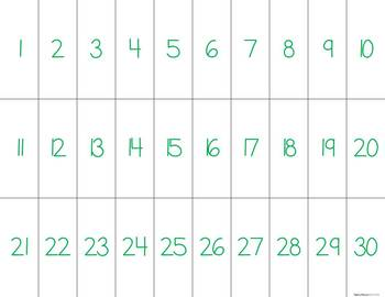 Numbers to 30 - Base-Ten Matching Activity FREEBIE