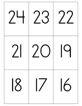 Numbers to 30 Battle and Memory Game using Ten Frames