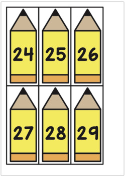Numbers to 30 Center - Missing Pencils