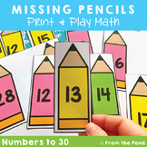 Missing Numbers Game and Worksheet