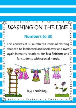 Numbers to 30 Washing on the Line