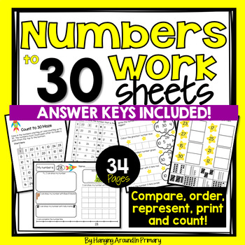 Numbers to 30 Worksheets