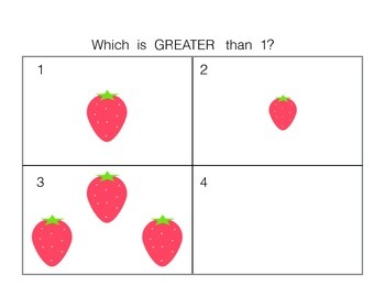 Numbers to 5 (Greater Than, Less Than or Equal to)