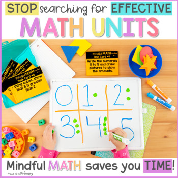 Numbers to 5 Kindergarten