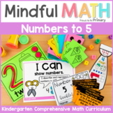Numbers to 5 - Kindergarten Mindful Math