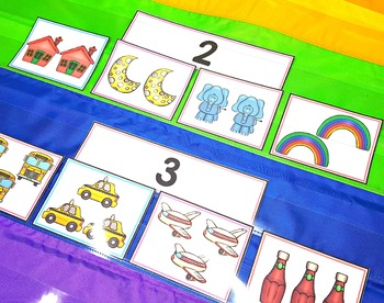 Numbers to 5 Sorting Cards FREE Activity
