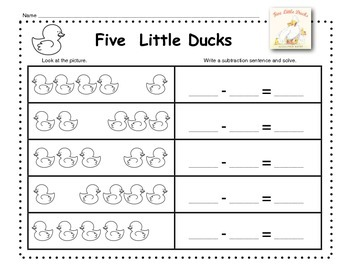Numbers to 5 with Five Little Ducks