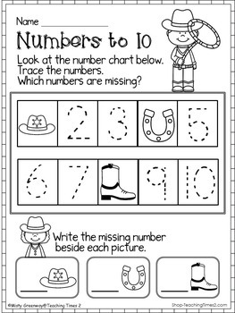 Numbers to 50