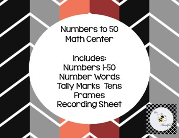 Numbers to 50 center!