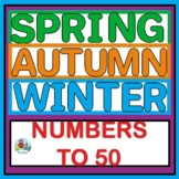 Numbers to 50 Fall and Winter Theme