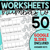 Winter Worksheets for Numbers to 50