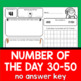 Numbers to 50 Worksheets - Christmas