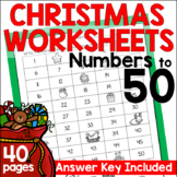 Christmas Math Worksheets for Numbers to 50