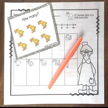 Numbers to 6 - Brown Bear Math Task Cards