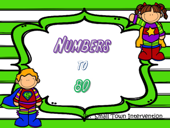 Numbers to 80