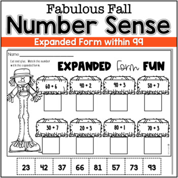 Numeracy to 99  ~ Fall Numeracy Fun { Practice Pages and Station Activities}