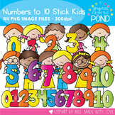 Numbers to 10 Stick Kids - Clipart for Teaching