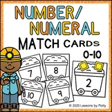 Numbers to Numerals Match Cards