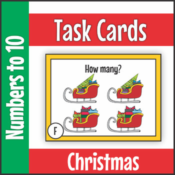 Numbers to Ten Christmas Task Cards SCOOT