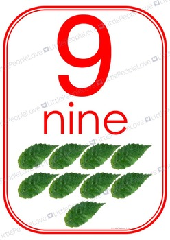 Numbers to Ten Classroom Display Cards