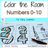 Numbers to Ten Color the Room