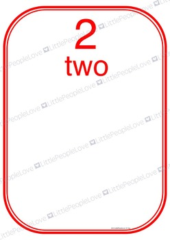 Numbers to Ten Display Cards - Activity