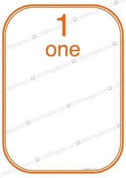 Numbers to Ten Display Cards - Activity