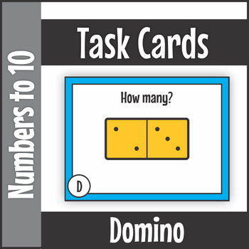 Numbers to Ten Domino Task Cards SCOOT