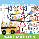 Numbers to Ten Math Center - Numbers + Words + Subitizing