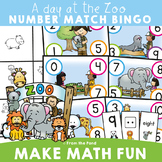 Numbers to Ten Math Center - Zoo Theme