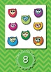 {FREE} Numbers to Ten Posters - Owls on Green Chevron