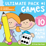Math Centers Numbers to 10 Ultimate Pack - Games and Worksheets