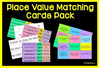 Place Value Matching Cards Activities Pack