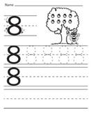 Numbers tracing worksheets,Kindergarten,Preschool, printable math writing pages