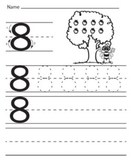Numbers tracing worksheets,Kindergarten,Preschool, printab