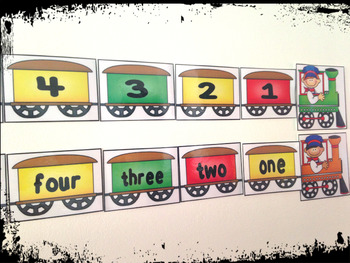 Numbers train 1-12