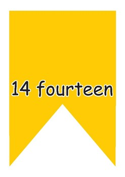 Numbers up to 20 - Banner - Coloured