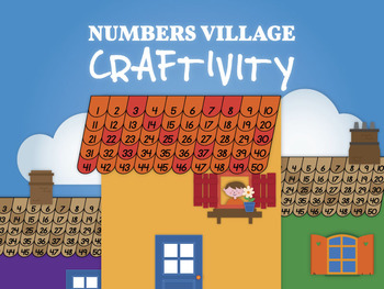 Numbers village craftivity