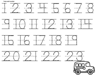 Numbers with Cars Theme