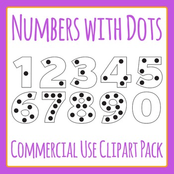 Numbers with Counting Dots Clip Art for Commercial Use