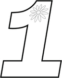 Numbers with Flowers