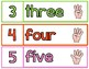 Numbers with Number Words- Wall or Bulletin Board Display