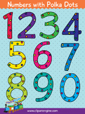 Numbers with Polka Dots Clip Art Collection