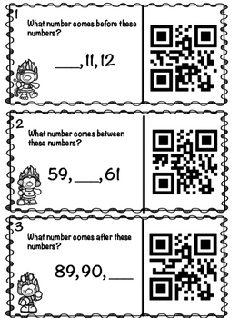 Numbers with QR Codes - Before, Between, After