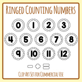 Numbers with Rings for Counting / Coloring / Number Sense Clip Art Set