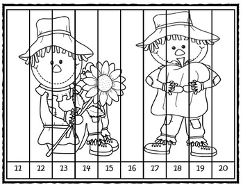 Numbers with Scarecrows- Differentiated Activities
